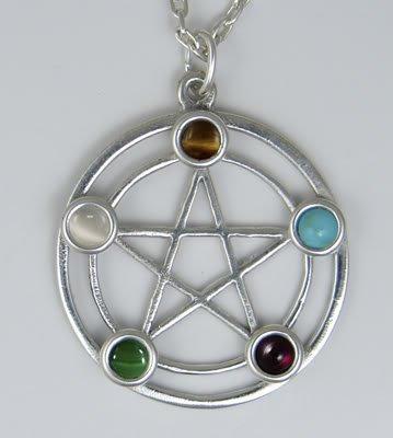 The Elemental Pentagram in Sterling Silver Made in America