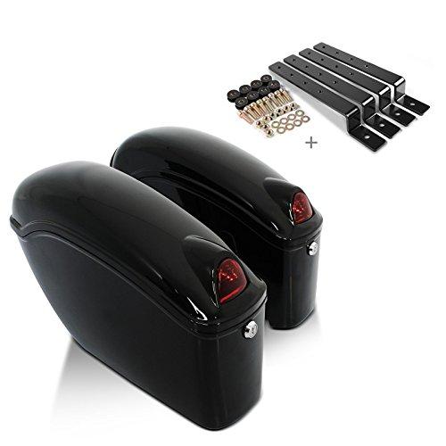 Hard saddlebags Craftride Nebraska (pair) 12l + mounting kit Suzuki Intruder C/M 800, VL 125, 800 Volusia, VS 600/750/800/1400, Marauder VZ 800