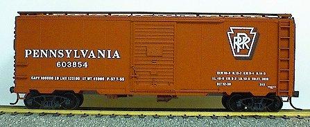 AAR 40' Single-Door Steel Boxcar - Kit (Plastic) -- Pennsylvania Railroad (Single Door Boxcar Aar)