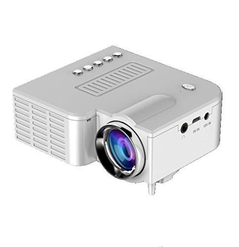 KATAIMUZI 2018Projectors Mini Projectors HD 1080P Portable Video Projector LED Multimedia Home Theater Movie Projector 1500 Lumens LCD Mini Projector with 200 INCH GIANT IMAGE (white) by kataimuzi