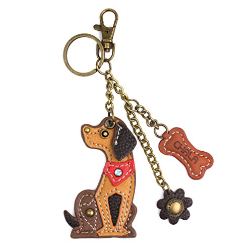 New! 2018- Chala Purse Charm, Key Fob, Key-Chain (609 Brown Dog)