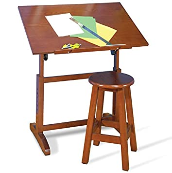Genial Creative Drafting Table Inclunding 22u0026quot; Tall Stool This Set IS Made Of  Solid Wood In