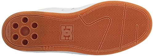 DC Men's Astor Skateboarding Shoe, White/Gum, 13 D US