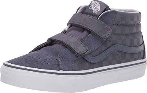 Vans Boy's SK8-Mid Reissue V Skate Shoes (2 M US Little Kid, (Checkerboard) Grisaille)