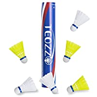 TEOZZO Nylon Badminton Shuttlecocks Pack of 12, Stable and Sturdy High Speed Badminton Shuttles, Training Shuttlecock for Indoor and Outdoor Sports
