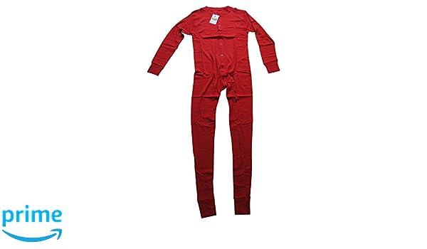 Long John Rojo Ropa Interior para Cowboys, Interior de esquí, Pijama Rojo Small: Amazon.es: Ropa y accesorios