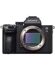 Sony Alpha 7M3 E-Mount volledig formaat digitale camera ILCE-7M3 (24,2 megapixel, 7,6 cm (3 inch) touchscreen, Exmor R CMOS full-size sensor, XGA OLED-zoeker, 2 kaartsleuven, alleen behuizing) zwart