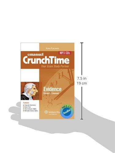 Crunchtime Audio: Evidence 4th Edition (Emanuel Crunchtime) by Aspen Publishers