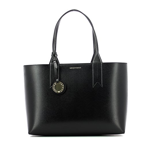 Emporio Armani Logo Shopping Donna Handbag Nero Black
