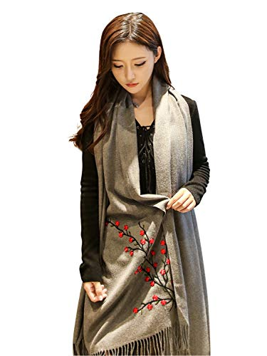 Scarf Comfortable Practical Scarf Ladies Stole Check Muffler Shawl Outer Outer Large Format Exquisite Haori Fashionable Warm Coordy (Color : Green, Size : Free)