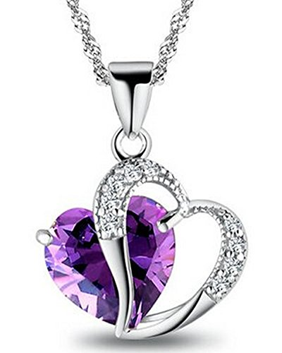 Mothers Zirconia Amethyst Necklace Sterling product image