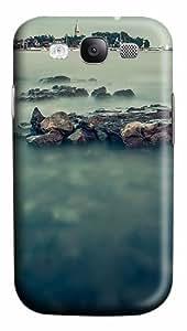 Misty Sea And The Harbor Custom Polycarbonate Plastics Case for Samsung Galaxy S3 / S III/ I9300