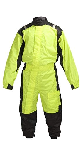 MOTORCYCLE BIKER ONE PEICE RAIN SUIT YELLOW BLACK RN1-1 (L)