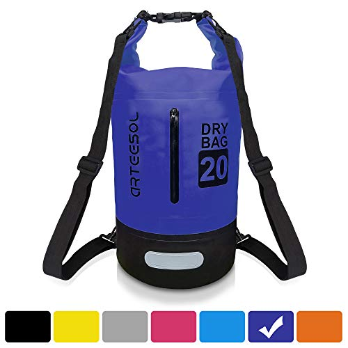 arteesol Dry Bag, Waterproof Dry Bag 5L/10L/20L/30L Backpack with Adjustable Shoulder Strap Perfect for Kayaking/Boating/Canoeing/Fishing/Rafting/Swimming/Camping/Snowboarding (30L, Dark Blue)