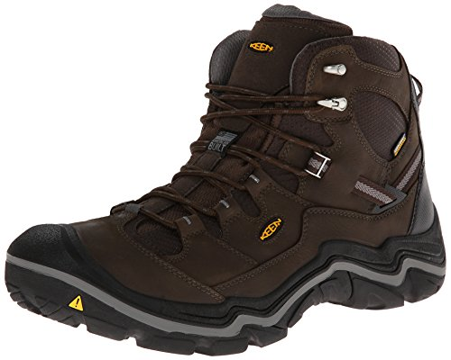 KEEN Men's Durand Mid WP Hiking Boot,Cascade Brown/Gargoyle,