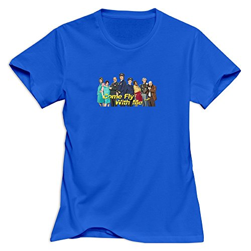 cuauned-come-fly-with-me-t-shirt-for-women-xl-royalblue-short-sleeve-royalblue-womens