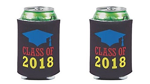 12 Graduation Can Covers Insulator - 12 Pack Class of 2018 Can -