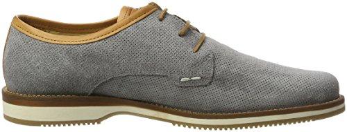 NOBRAND Ice, Zapatos de Cordones Derby para Hombre Grau (Grey Suede)
