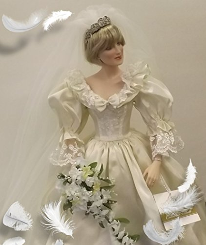 Princess Diana of Wales in her Wedding Dress -