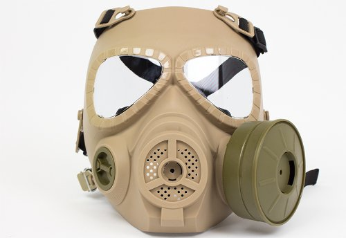 [[Special forces equipment & Cosplay] it is not cloudy, quiet fan with M04 style gas mask TAN large diameter fan mounted on! Survival game (japan] (Toy Gas Mask)