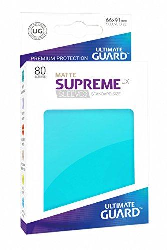 Ultimate Guard Supreme UX Card Sleeves (80 Piece), Matte Aquamarine, Standard Size