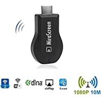 Mirascreen WIFI Display Dongle F1N 1080P HDMI TV Stick Support MiraCast AirPlay DLNA Compatible IOS, Android ,Win8.1 Win10. Free Installation (no APP, no driver) TV Dongle.Streaming Media Player.