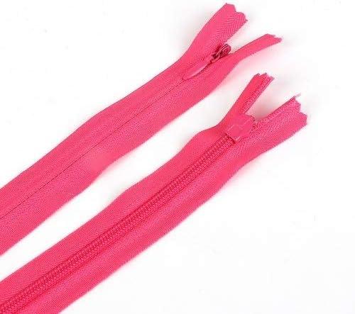 FGHS 10stbag 28cm 35cm 40cm 50cm 55cm 60cm Long Onzichtbare Ritsen DIY Nylon Coil Rits for het naaien van kleding accessoire ColorFuchsia Size35cm