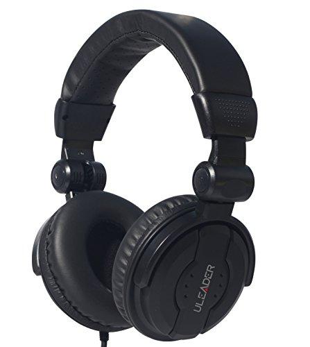 Uleader DJ9400 High-Definition DJ Headphones (DJ9400 Black) ()