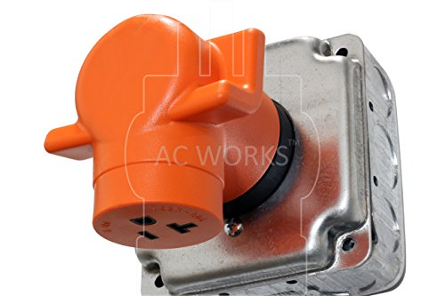 AC WORKS [AD1430520] Dryer Outlet Adapter NEMA 14-30P 30Amp Dryer Outlet to Household 15/20Amp 125Volt T Blade Female Connector by AC WORKS (Image #5)