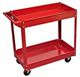 New Red 2' 9'' x 1' 4'' x 2' 7'' Max of 220 Pounds Load 2 Shelves Workshop Tool Trolley SKB Family