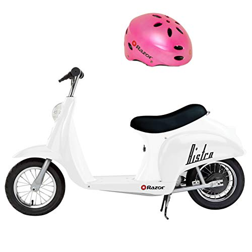 Razor Pocket Mod Miniature Euro 24V 250W Electric Retro Kids Scooter & Helmet
