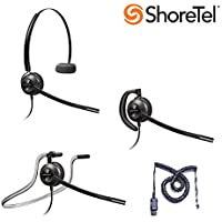 ShoreTel Compatible Plantronics EncorePro 540 Noise-Canceling Headset Bundle for ShoreTel IP 420 480 480G 485