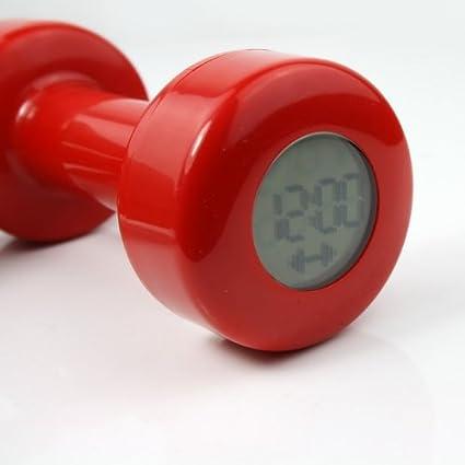 Novela creativo rojo mancuernas Reloj despertador Shape Up 30 veces nuevo