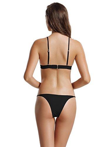 022a564f8b6 zeraca Women s Tie Back Triangle Bikini Bathing Suits
