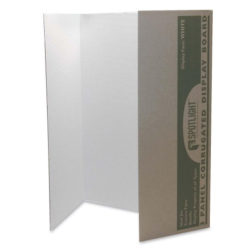 Wholesale CASE of 10 - Pacon Single Walled Tri-fold Presentation Boards-Single Walled Presentation Board,40''x28'',8/CT,White