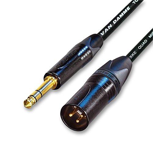 (Designacable Van Damme STAR QUAD extension cable, Neutrik Gold Male XLR to TRS, Balanced 2 m black (Manufacturer Size:)