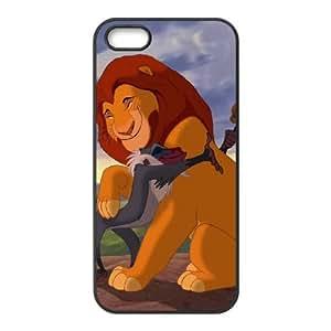 iPhone 5 5s Cell Phone Case Black Pumbaa Simba Timon Q0305703