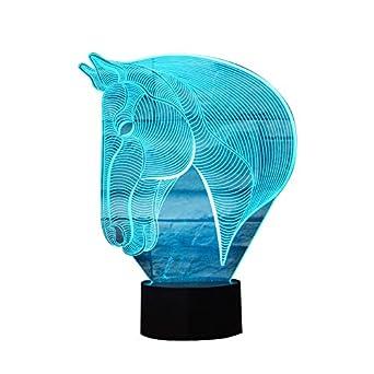 Lampe Table Light Nuit 7 À Jouet 3d Lumière Animal Night Couleur Langer Led Tête Cadeau Zebra mn0wv8NO