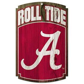 "WinCraft NCAA Alabama, University of 69913091 University of Alabama Wood Sign, 11"" x 17"", Black"