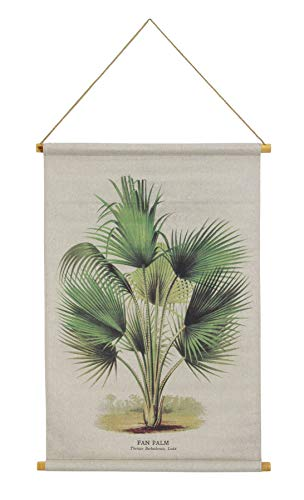 Habitat Palm Linen Hanging Tapestry, Green