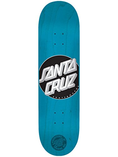Santa Cruz Skateboards Classic Dot Cyan Team 31.6″-8″ Decks