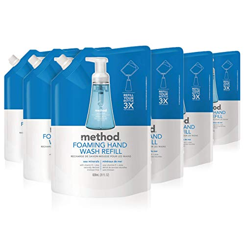 Method Foaming Hand Soap Refill, Sea Minerals, 28 Fl. Oz (Pack of 6)