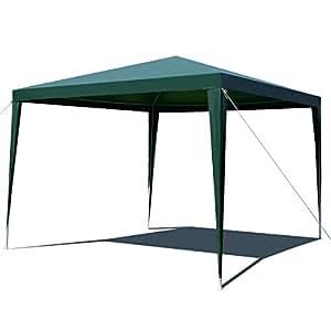 CASART Carpa de 3 x 3 m para exteriores, para fiesta, boda, refugio o jardín, color verde, tamaño 3 m x 3 m
