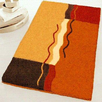 Kleine Wolke 5503333129 Vanessa Badteppich Wc Polyacryl Orange Braun
