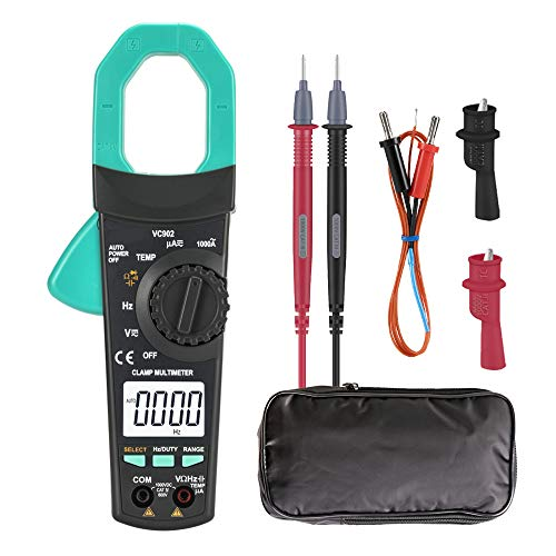 Autoranging Multimeter AC-DC Voltage Clamp Meter - 1000A 4000 Counts Digital Clamp Multimeter with Diode Testing,Resistance,Transistor,Temperature,Voltage,Account,Capacitance (Transistor Testing)