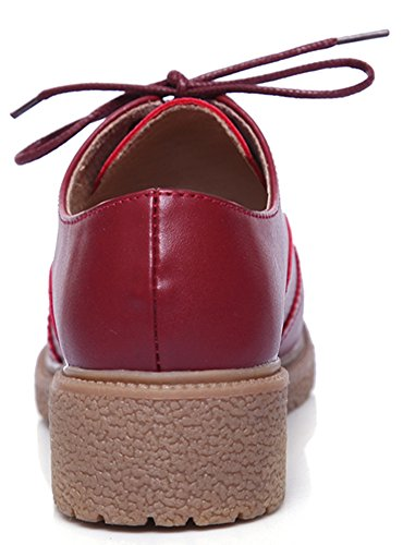 Oxford Shoes for Women,SATUKI Casual Platform Lace Up Wedges Heel Dress Shoe