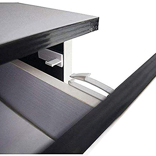 Child Safety Locks, Coolrunner Safety Invisible Drawer Latches with Strong Adhesive for Baby Care,Only fit for SOME Drawers, Please See Below Before Buying (8 Pack)