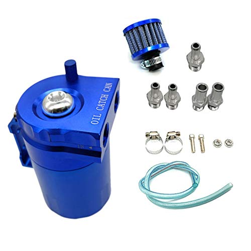 HermosaUKnight Universal verblü fft Aluminiumlegierung Motorö l Catch Can mit Verschnaufpause Benzin Tank Filter Reservoir Can fü r Auto Auto-blau