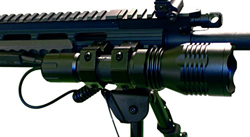 Cyclops Rechargeable Weapon Mountable High Powered Varmint Light with Dual Color Bulbs.