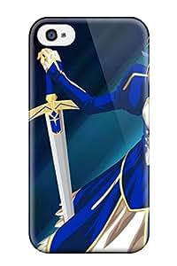 High Grade Jeffrey Wasser Flexible Tpu Case For Iphone 4/4s - Fate/stay Night